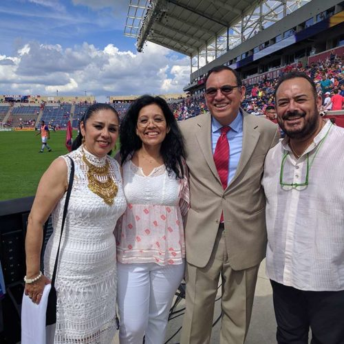 Dr Gilberto Munoz & his Family at Chicago Fire Soccer Award Ceremony